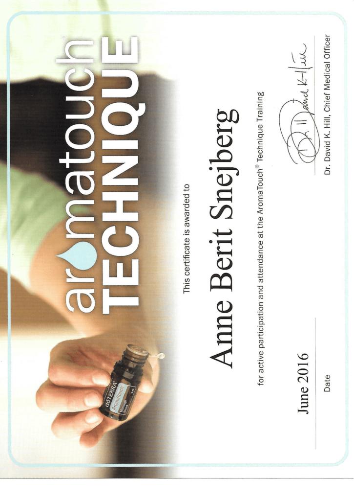 Aromatouch certifikat