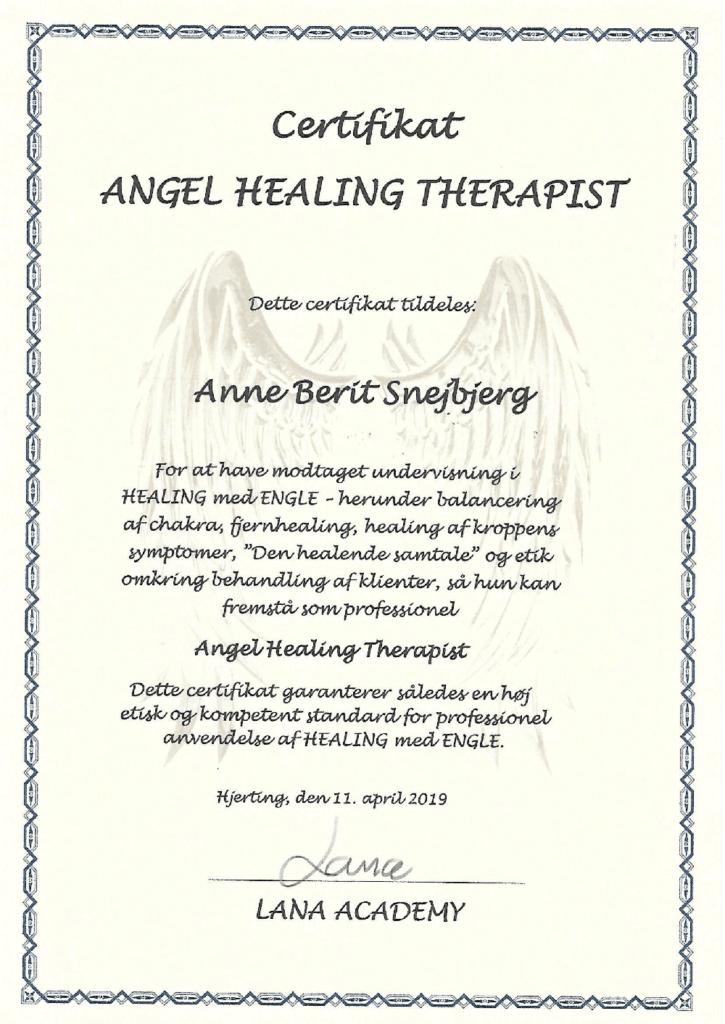 Engle Healing Terapi Certifikat